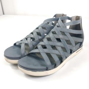 Eileen Fisher Sandals Gladiator Leather Woven